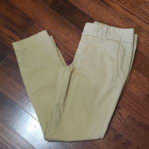 J. Crew Andie Chino Ankle Pants